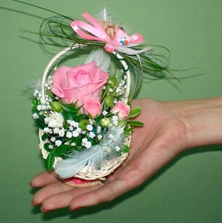 Корзинки с живыми цветами своими руками