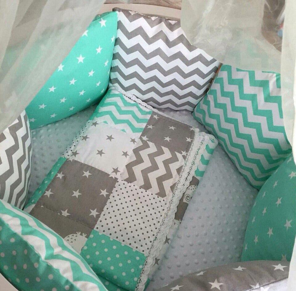 Шьем подушки бортики в кроватку