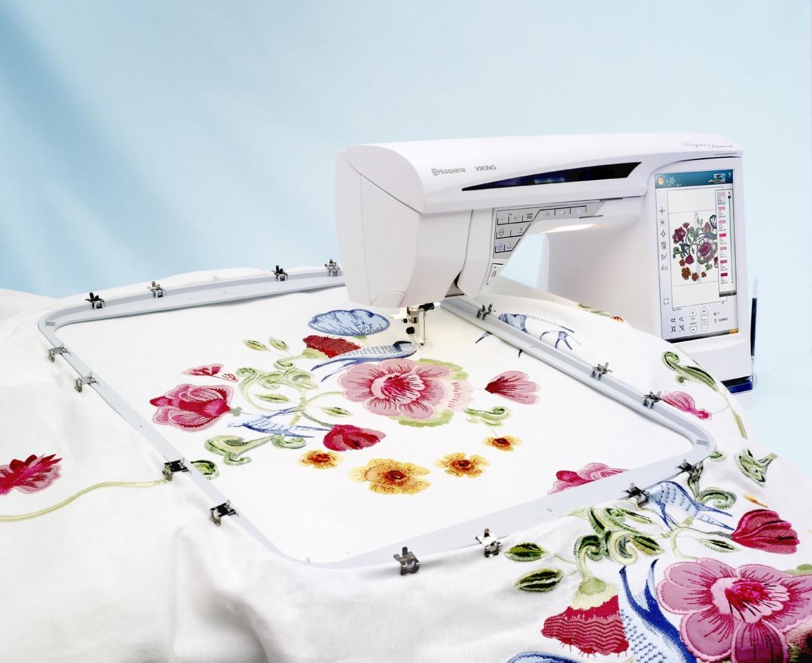 Вышивка на бытовой швейной машине