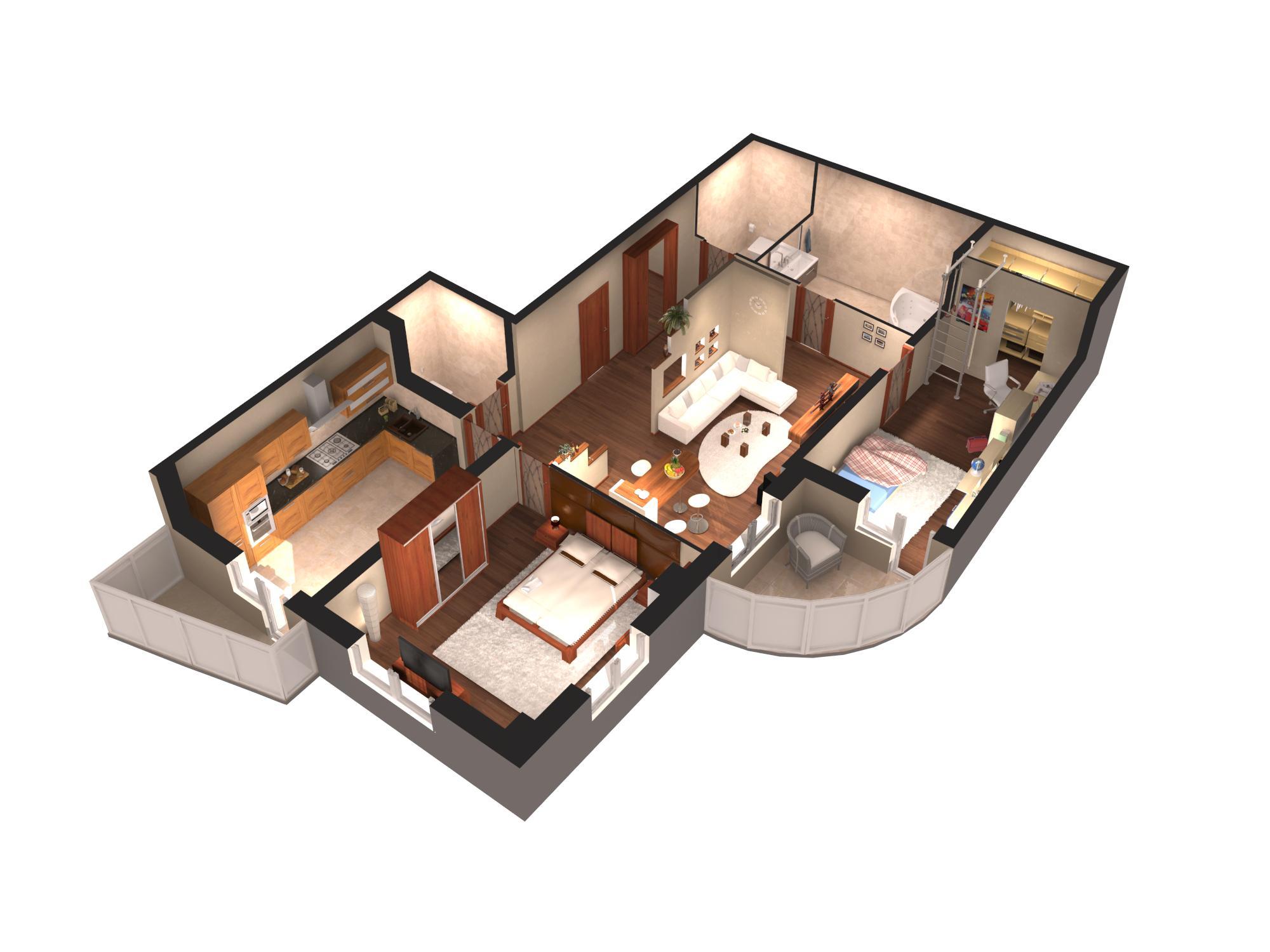 Дизайн проекты трехкомнатных квартир фото