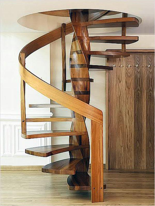 Деревянные резные винтовые лестницы своими руками 298