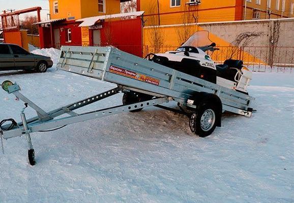Как сделать прицеп для снегохода