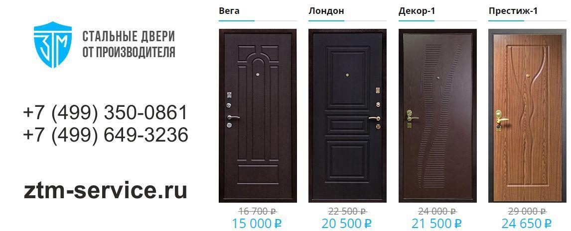 металлические офисные двери от производителя с установкой цена