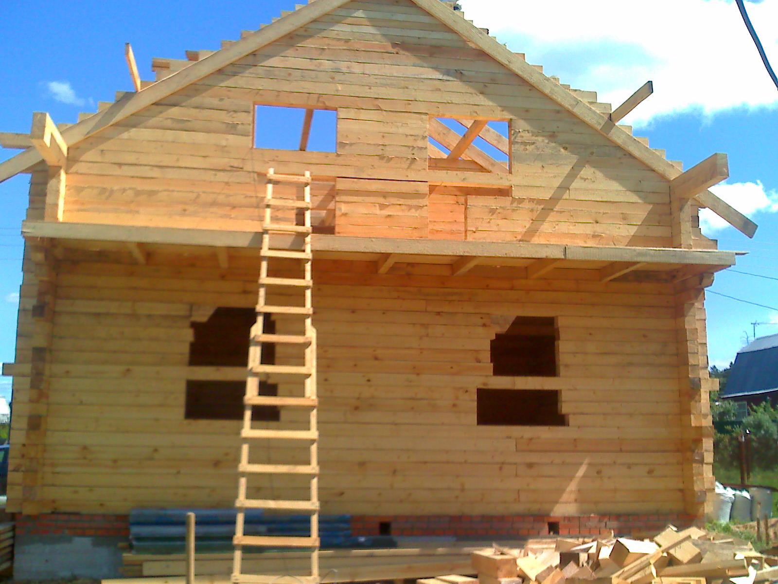 Построим дом из бруса своими руками