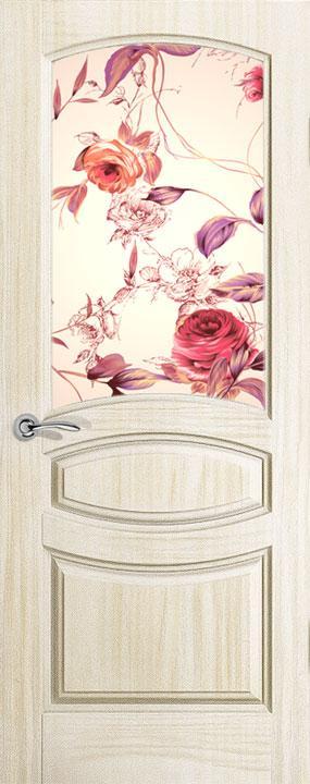 Межкомнатные двери с цветком