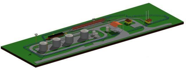 Сооружения нефтебаз при реализации нефтепродуктов