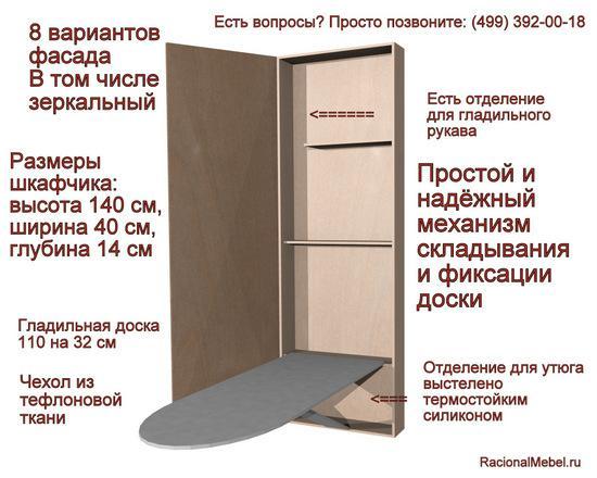 Гладильный шкаф.