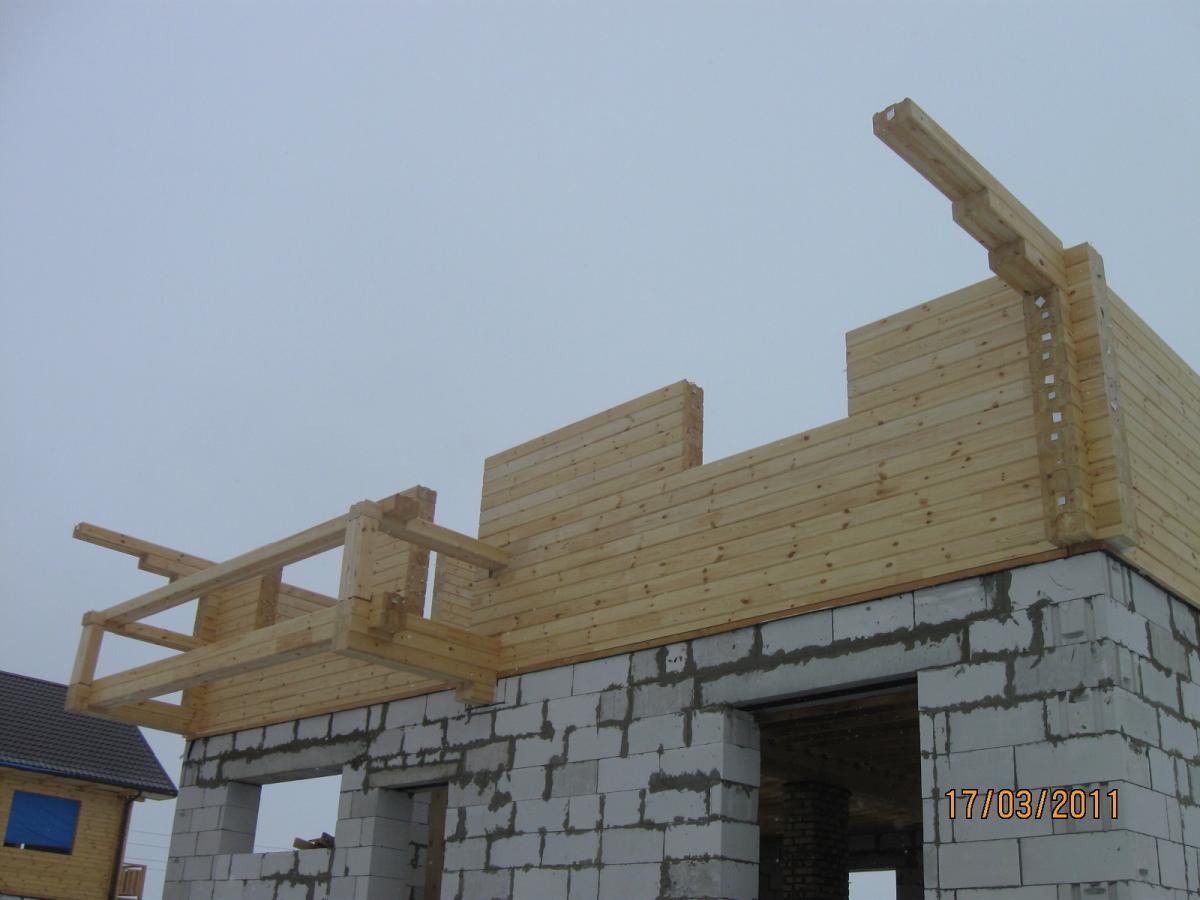 Как сделать деревянный 2 этаж на кирпичном доме