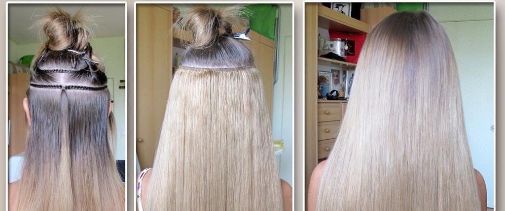 Наращивание волос на ленте недорого