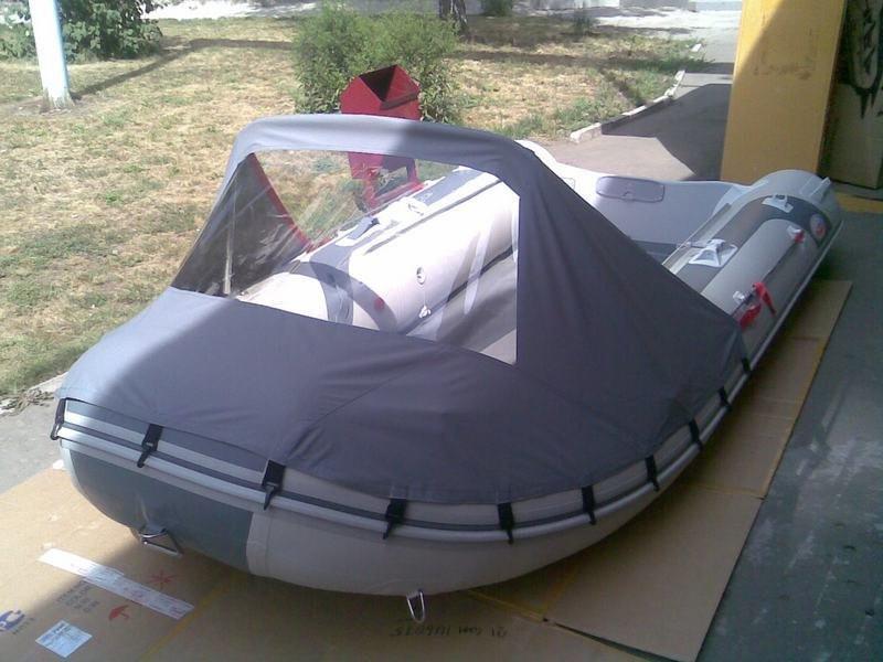 как сделать носовой тент на лодку