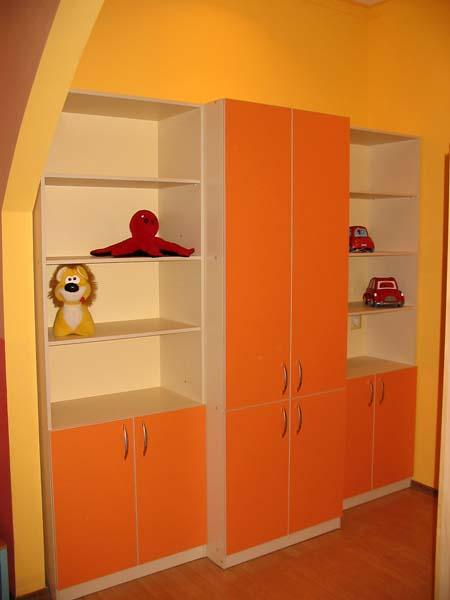Детские шкафы для одежды, яркие цвета, мебель для.