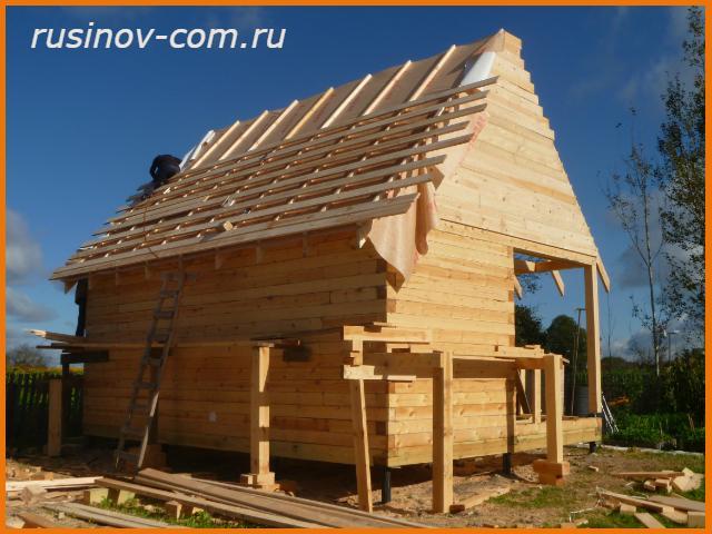 Строительство крыш из бруса своими руками 445