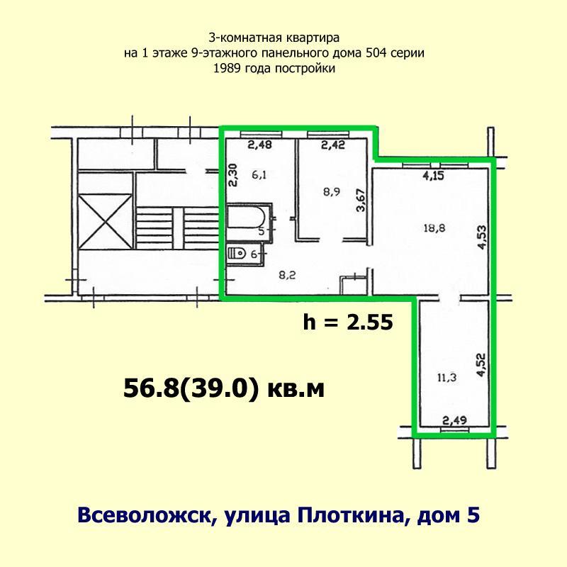 Размеры лоджии в 9 этажном панельном доме..