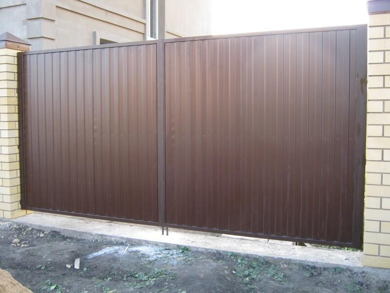 Купить в николаеве ворота из металлопрофиля правильно установить и смонтировать откатные ворота