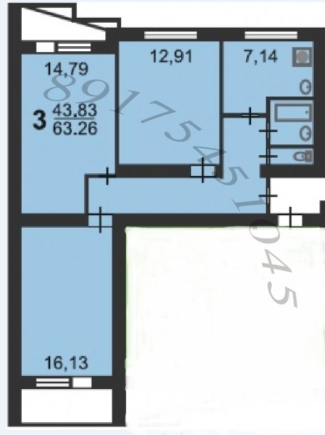 Продажа 3-комнатной квартиры м.беляево.