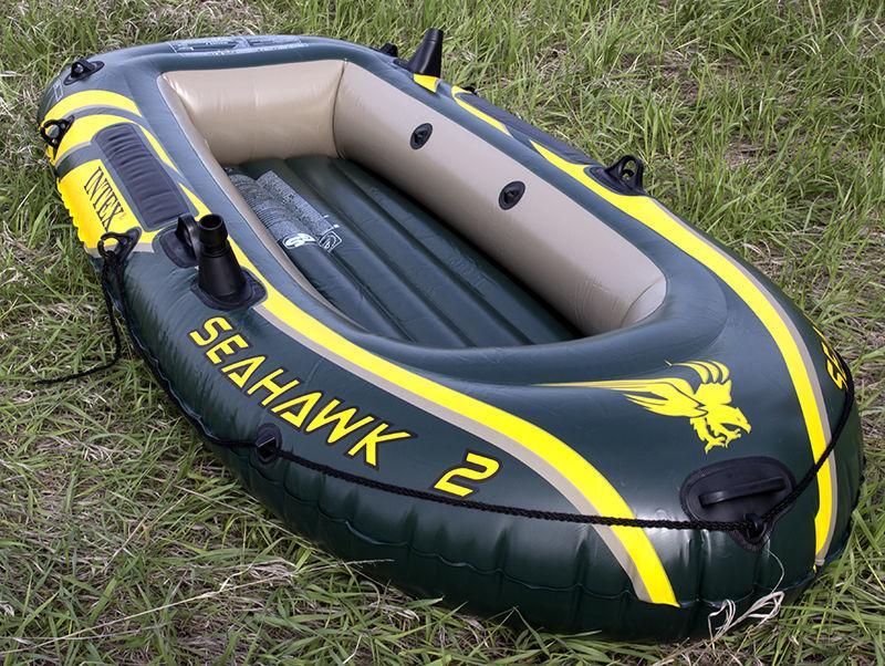 лодка intex seahawk 2 с мотором