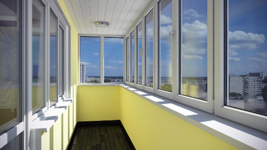 Остекление балконов интерьер доступный каждому.