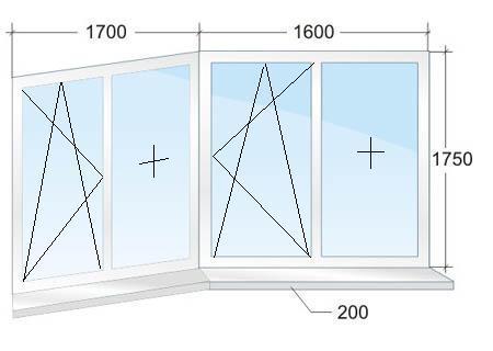 Алюминиевые окна п-44т.