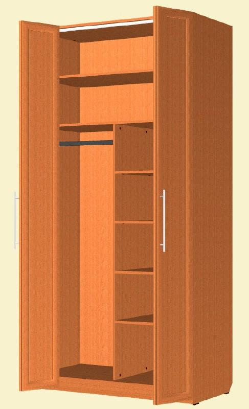 Двухстворчатый шкаф для одежды.