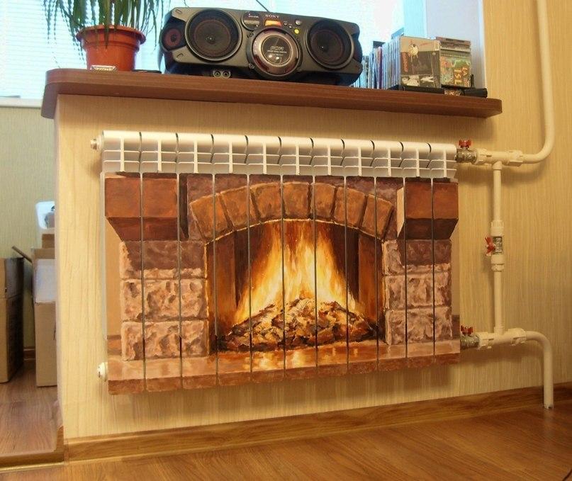 Декор радиаторов отопления фото своими руками