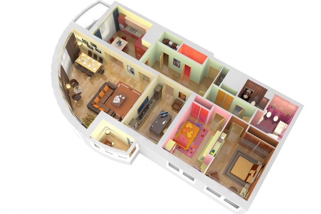 4 комнатные квартиры фото