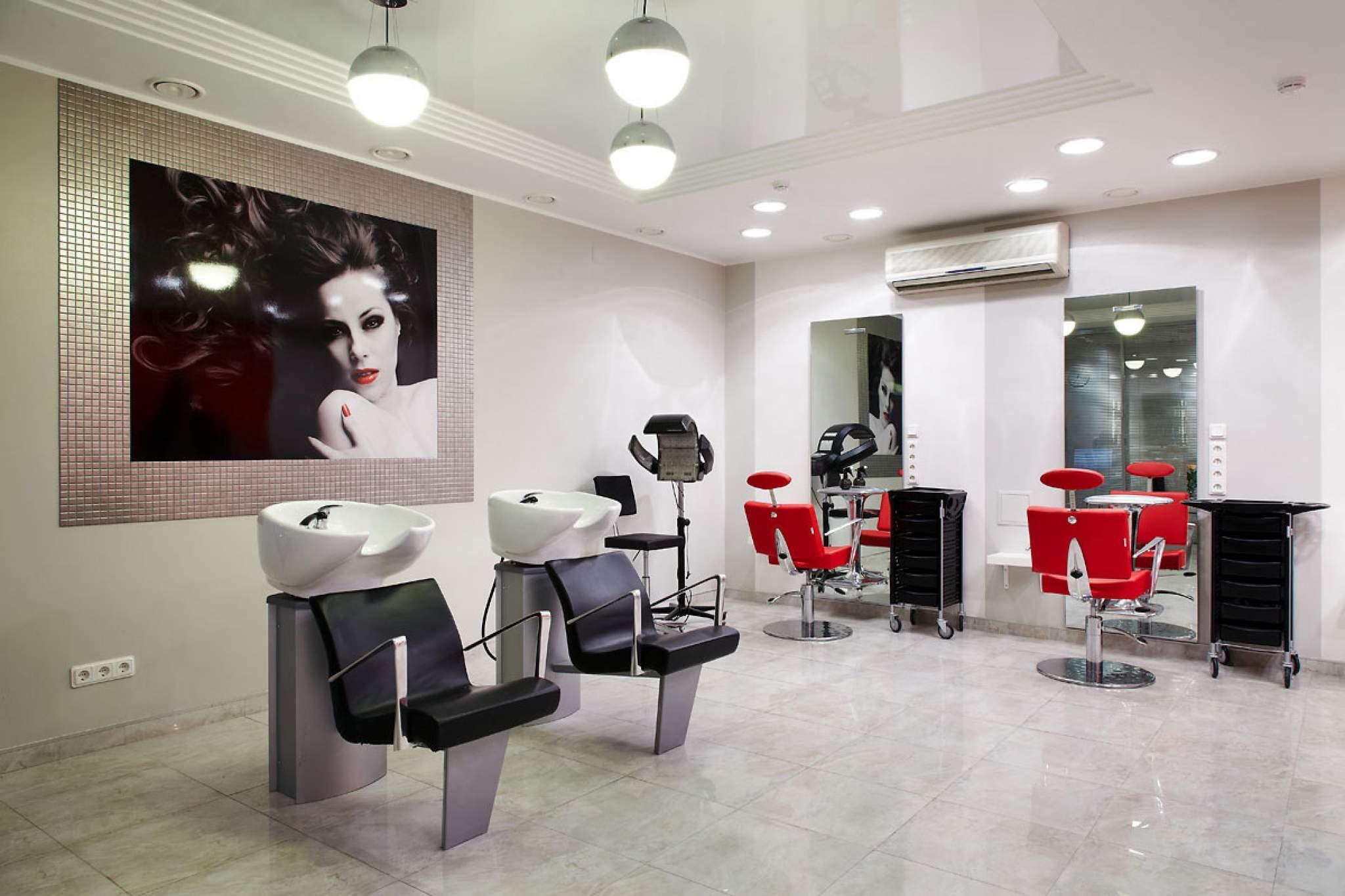 Интерьер парихмахерской. 70 фото дизайнов 40