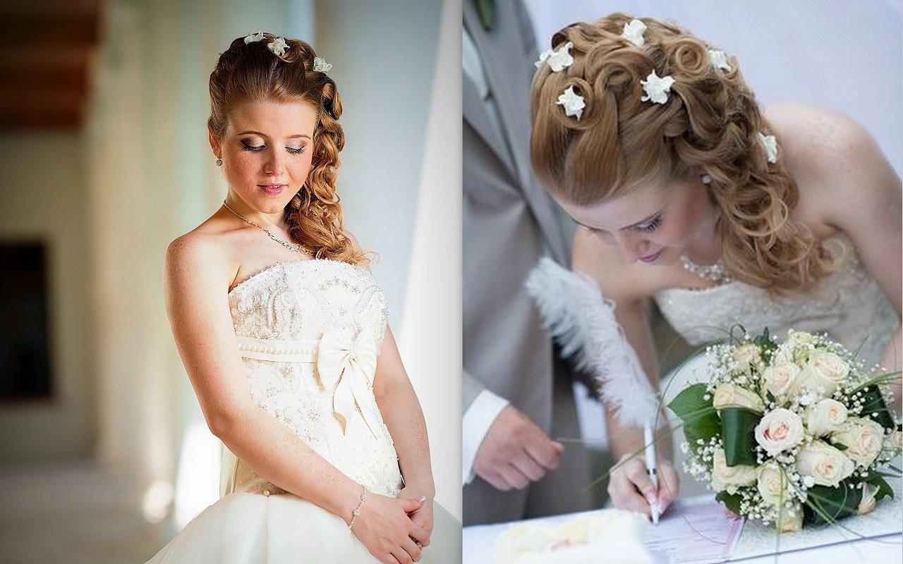 Свадебные прически на дом